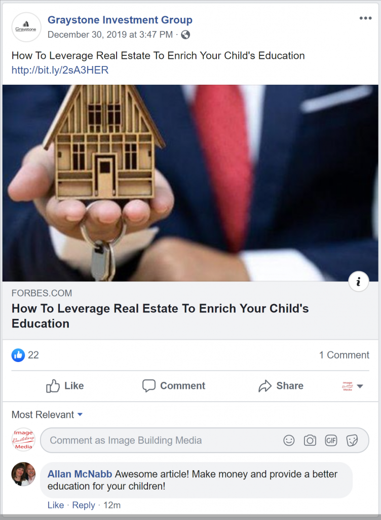 Graystone Investment Group Facebook Post