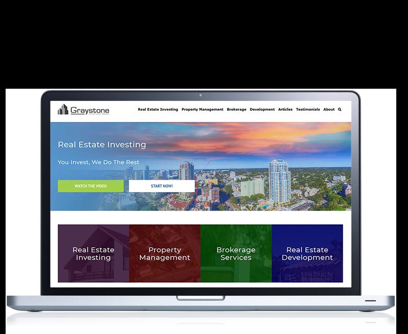 Screenshhot of real estate website