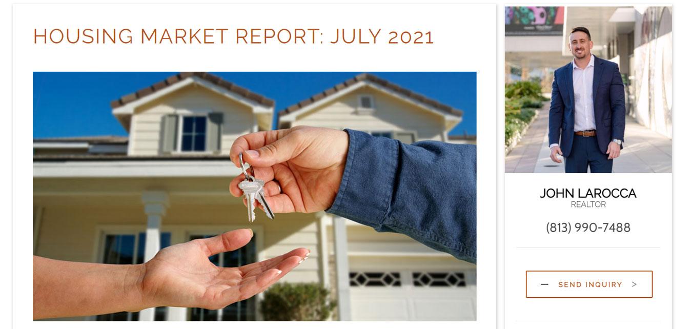 real estate website market report
