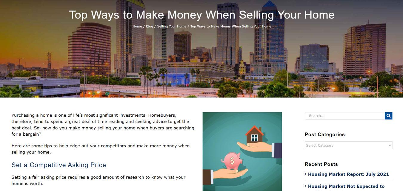 real estate website article